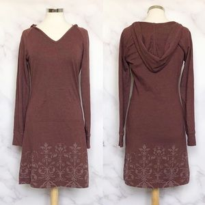 Prana |  Mandie Burgundy Hooded Dress